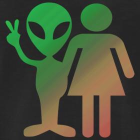 Intergalactic Couple Alien T-Shirt