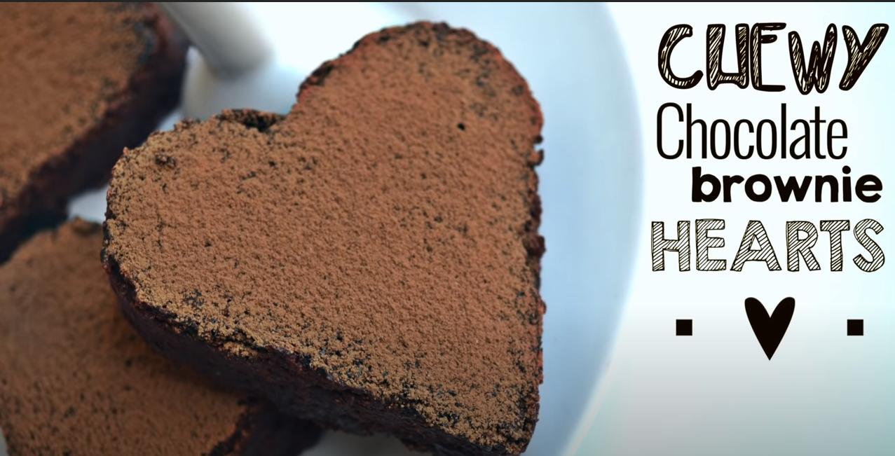 VEGAN VALENTINE: Chocolate Brownie Hearts Recipe (Video)