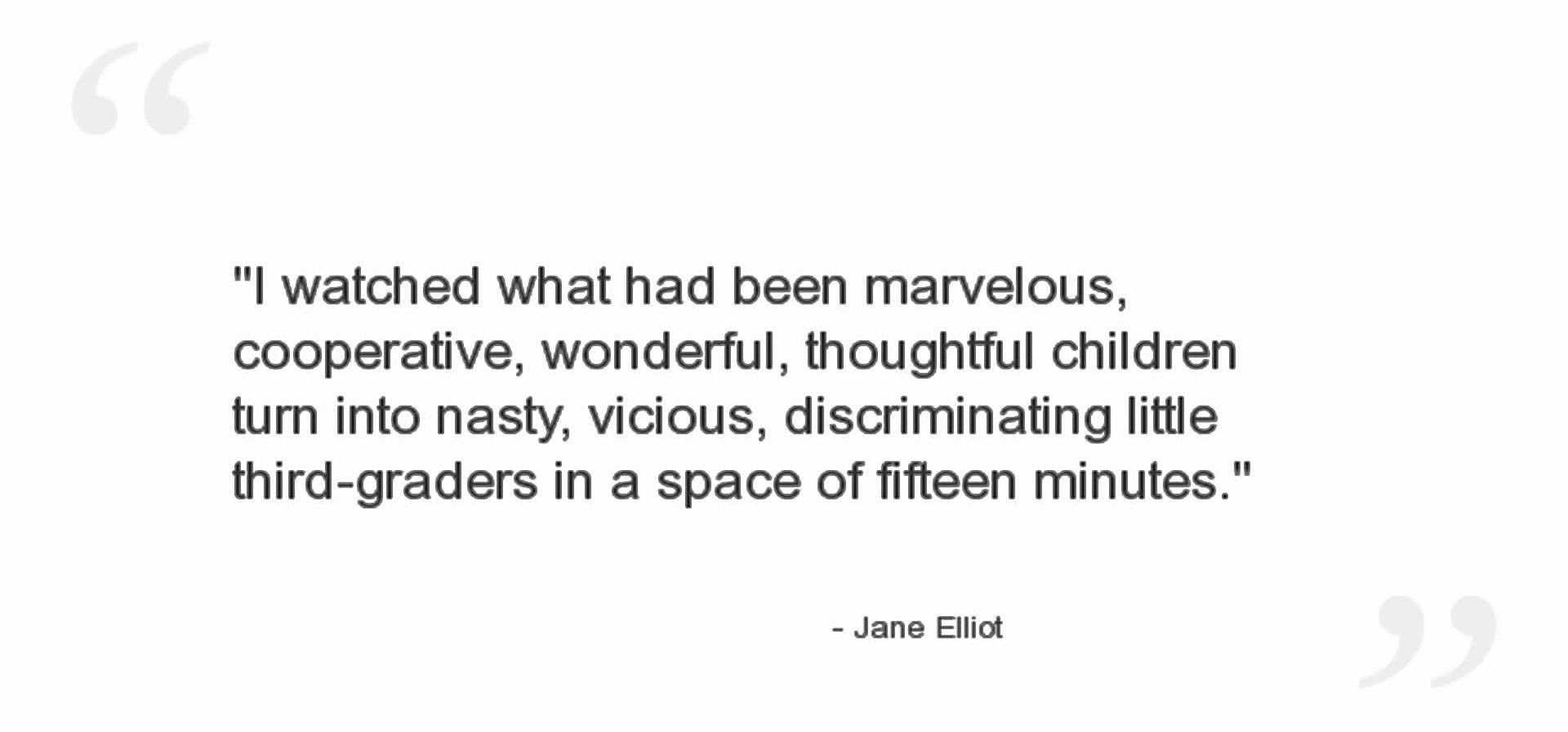 [VIDEO] A Class Divided: Jane Elliott Experiment