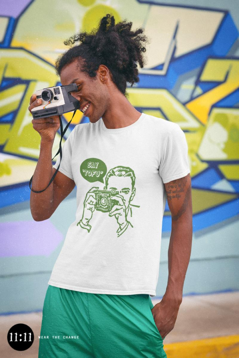 say tofu vegan t-shirt
