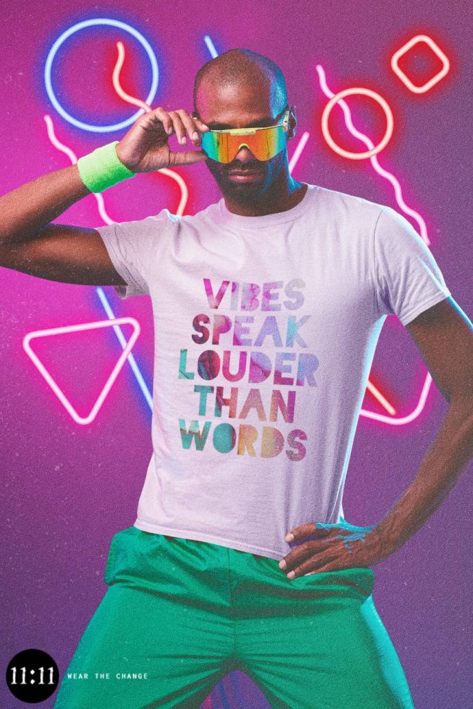 Inspirational New Age T-Shirt: Vibes Speak Louder Than Words